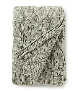 Image of Southern Living Lux Collection Sutton Cable-Knit Throw