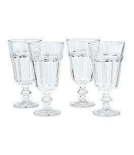 Image of Southern Living Lace Footed Clear Goblet, Set of 4