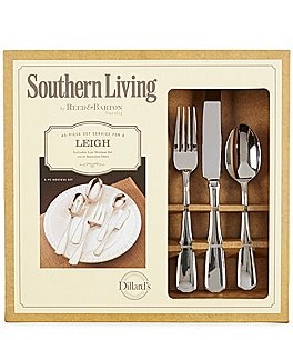 Image of Southern Living Leigh 45-Piece Stainless Steel Flatware Set