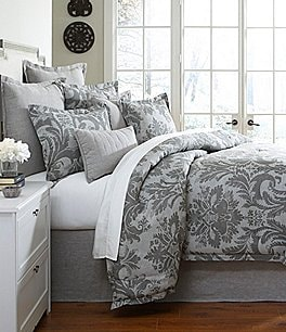 Image of Southern Living Marquis Floral Medallion Cotton Twill Comforter Mini Set