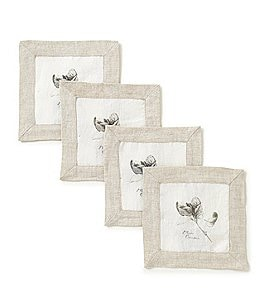 Image of Southern Living 4-Piece Mint Cocktail Napkin Set