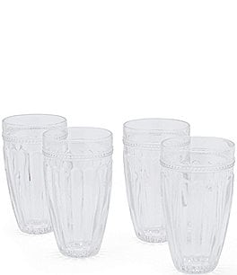 Image of Southern Living Ribbed Highball Glasses, Set of 4