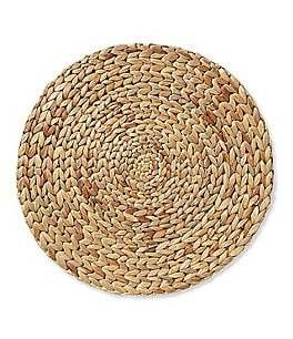 Image of Southern Living Festive Fall Collection Round Woven Water Hyacinth Placemat