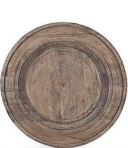 Image of Southern Living Spring Collection New Nostalgia Rustic Mango Wood Charger Plate