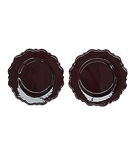 Image of Southern Living 2-Piece Savannah Scalloped Collection Dinner Plate Set