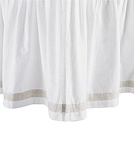 Image of Southern Living Simplicity Collection Addison White Ruffled Bedskirt