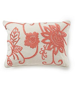Image of Southern Living Spring Collection Embroidered Floral Pillow