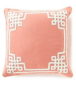 Image of Southern Living Spring Collection Greek Key Oversized Pillow