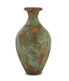 Image of Southern Living Spring Collection Patina Iron Vase