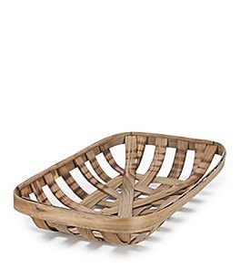 Image of Southern Living Spring Collection Tobacco Leaf Rectangular Basket