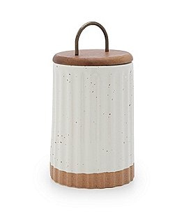 Image of Southern Living Festive Fall Collection Stoneware Canister with Wood/Metal Lid