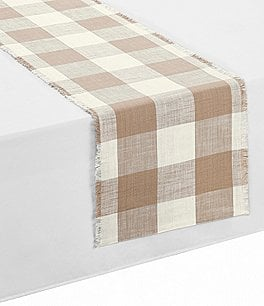 Image of Southern Living Festive Fall Collection Wide Buffalo Check Runner