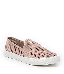 Image of Sperry Women's Seaside Perforated Slip On Sneakers