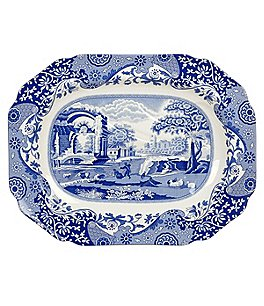 Image of Spode Blue Italian 200th Anniversary Platter