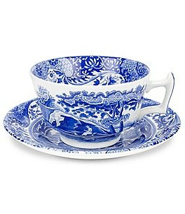 Image of Spode Blue Italian Cup & Saucer