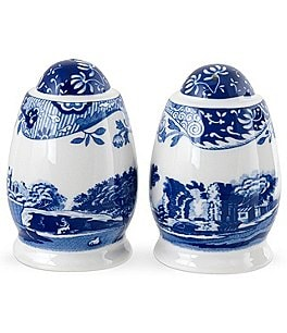 Image of Spode Blue Italian Salt and Pepper Shaker Set