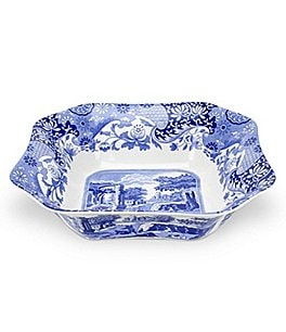 Image of Spode Blue Italian Square Serving Bowl