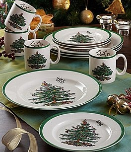 Image of Spode Christmas Tree 12-Piece Serving Set