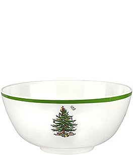 Image of Spode Christmas Tree Melamine Deep Serving Bowl