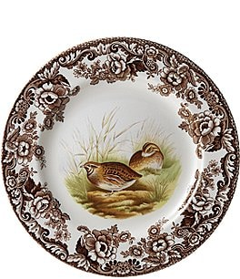 Image of Spode Festive Fall Collection Woodland Quail Salad Plate