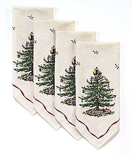 Image of Spode Holiday Collection Christmas Tree Table Linens