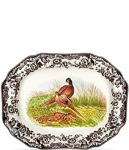 Image of Spode Festive Fall Collection Woodland Pheasant Octagonal Platter