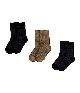 Image of Starting Out 3-Pack Crew Dress Socks