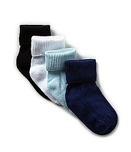 Image of Starting Out 4-Pack Single Cuffed Socks