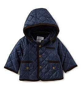 Image of Starting Out Baby Boys 3-9M Quilted Hooded Jacket