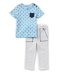 Image of Starting Out Baby Boys 12-24 Months Anchor Pocket Tee & Pants Set
