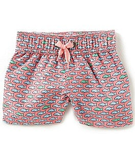 Image of Starting Out Baby Boys 12-24 Months Fish-Print Swim Trunks