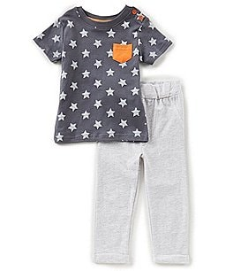 Image of Starting Out Baby Boys 12-24 Months Star-Printed Top & Pants Set