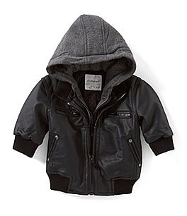 Image of Starting Out Baby Boys 3-24 Months Hooded Bomber Jacket