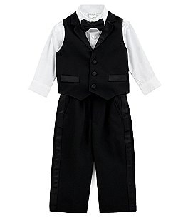 Image of Starting Out Baby Boys 6-24 Months 4-Piece Tux-Vest Set