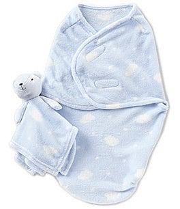 Image of Starting Out Baby Boys Cloud Blanket & Blanket Buddy Set