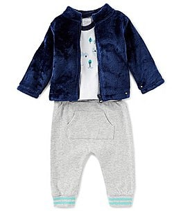 Image of Starting Out Baby Boys Newborn-24 Months 3-Piece Car Top, Jacket, & Pants Set