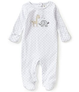 Image of Starting Out Baby Boys Newborn-6 Months Animal-Appliqué Star Print Footed Coverall