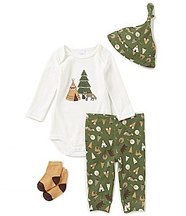 Image of Starting Out Baby Boys Newborn-9 Months Camping Print 4-Piece Layette Set