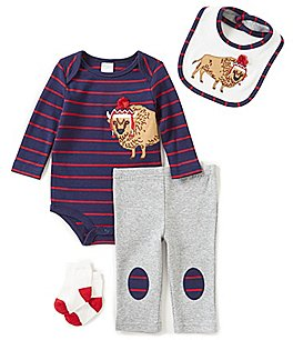 Image of Starting Out Baby Boys Newborn-9 Months Striped Buffalo 4-Piece Layette Set