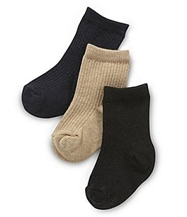 Image of Starting Out Baby Boys Ribbed Socks 3-Pack