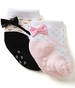 Image of Starting Out Baby Girls 2-Pack Bow Detailed Booties