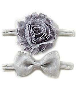 Image of Starting Out Baby Girls 2-Pack Frayed Flower Headband