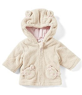 Image of Starting Out Baby Girls 3-24 Months Bear Hooded Coat