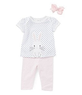 Image of Starting Out Baby Girls 3-24 Months Bunny Top & Leggings Set
