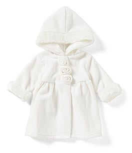 Image of Starting Out Baby Girls 3-9 Months Rosette Faux-Fur Trim Jacket