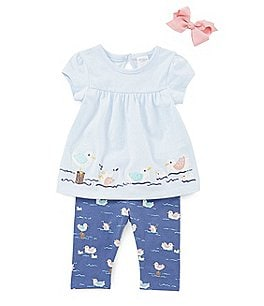 Image of Starting Out Baby Girls 3-24 Months Seagull Tunic & Leggings Set