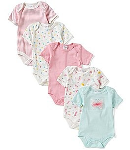 Image of Starting Out Baby Girls Newborn-6 Months 5-Pack Butterfly Bodysuits