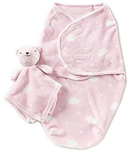 Image of Starting Out Baby Girls Cloud Blanket & Blanket Buddy Set