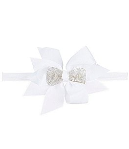 Image of Starting Out Baby Girls Embellished Bow Headwrap