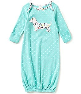 Image of Starting Out Baby Girls Newborn-6 Months Polka Dotted Dachshund Gown